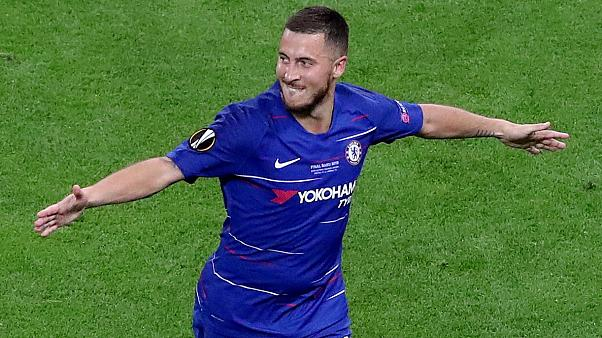 Hazar-Baijan! Belgium star Hazard scores twice as Chelsea thrash Arsenal  4-1 to win Europa League