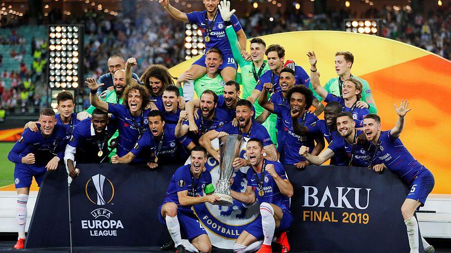 تشيلسي يتوج بلقب الدوري الأوروبي على حساب أرسنال بأربعة أهداف مقابل واحد