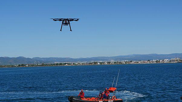 ¿Cómo puede un dron ayudar a salvar vidas en el Mediterráneo?