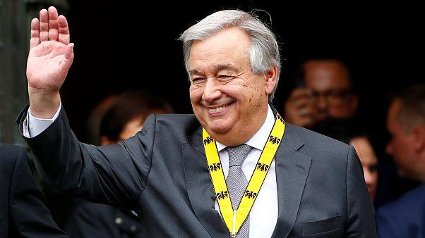 Guterres galardoado com prémio Carlos Magno