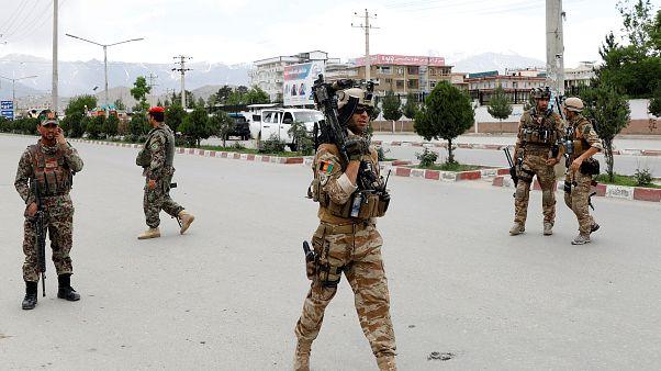 İntihar saldırısına müdahale eden Afgan komandolar