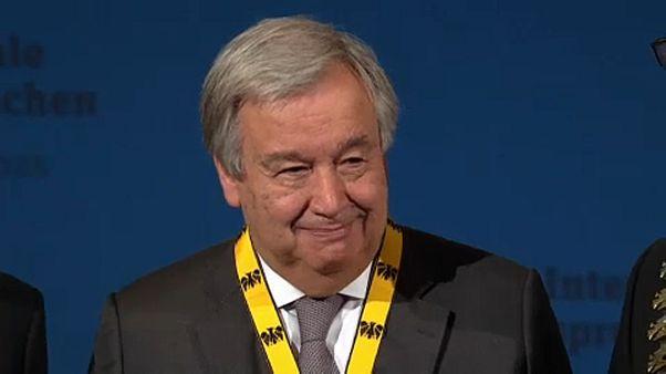 Antonio Guterres, lauréat du prix Charlemagne
