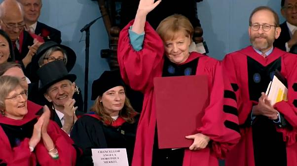 Angela Merkel honorée à Harvard