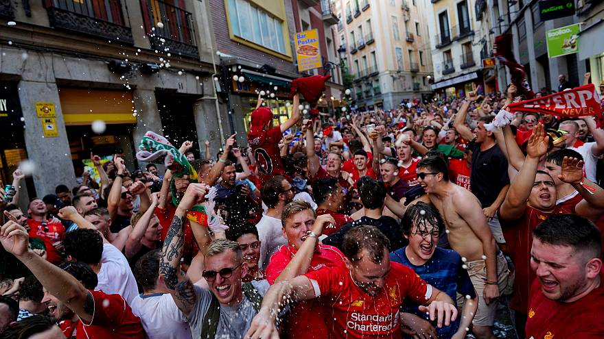 Champions League final fans have been arriving in Madrid for days.