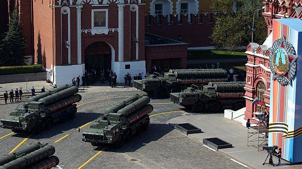 عرض لصواريخ إس400 في الساحة الحمراء في العاصمة الروسية موسكو