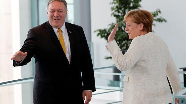 Pompeo y Merkel abordan sus diferencias sobre Irán