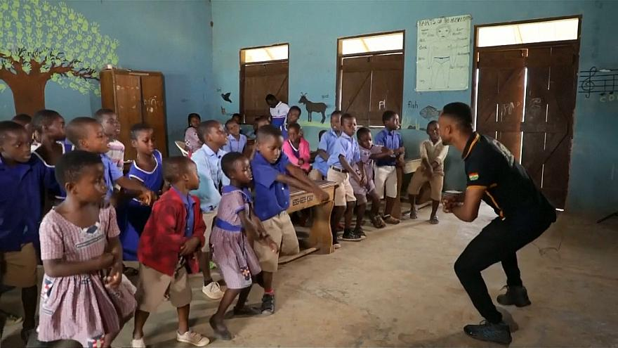 Meet the Ghanaian teacher who dances with his students to make learning easier