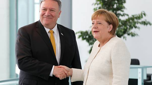 Mike Pompeo and Angela Merkel met in Berlin