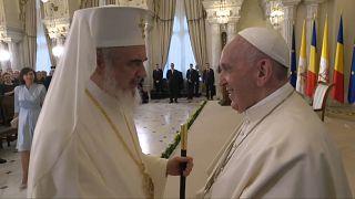 A pápa első napja Romániában