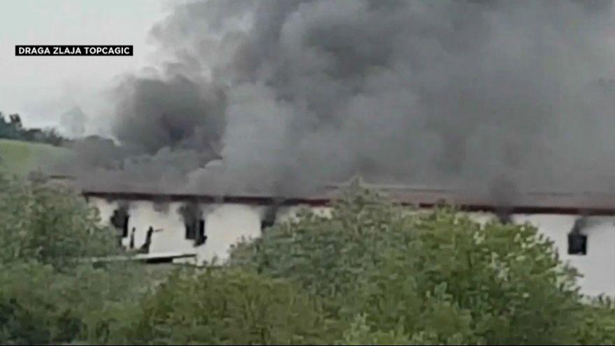 بوسنی؛ آتشسوزی در اقامتگاه پناهجویان