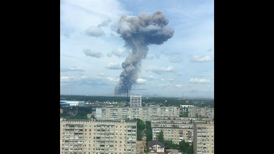 Russian explosives factory blast 'injures at least 79 people'