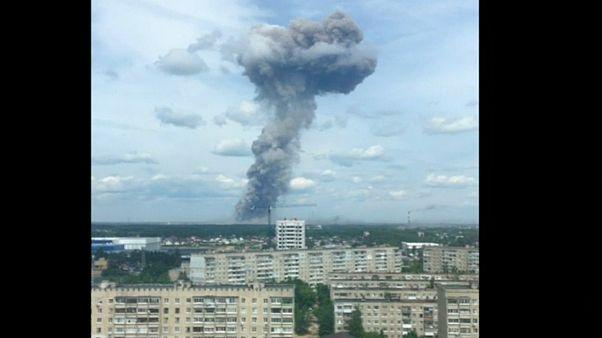 انفجار در کارخانه تولید تیانتی در شهر دزرژینسک روسیه