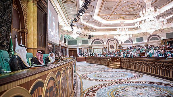 منظر عام للدورة الرابعة عشرة لمؤتمر القمة الإسلامي بمكة السعودية