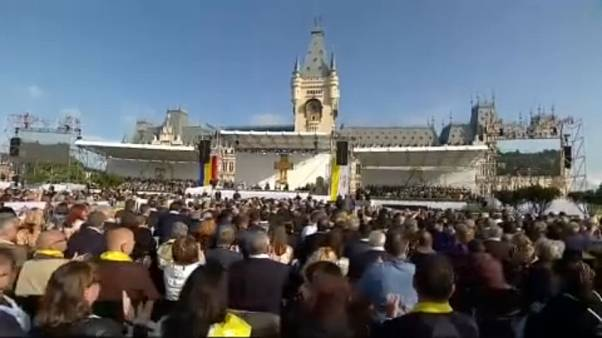 Pope Francis visits Romania's cultural capital