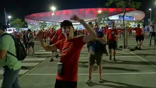 """Болельщики """"Ливерпуля"""" празднуют победу"""