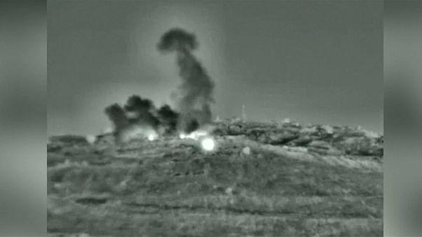 صورة من فيديو نشره الجيش الإسرائيلي عن القصف