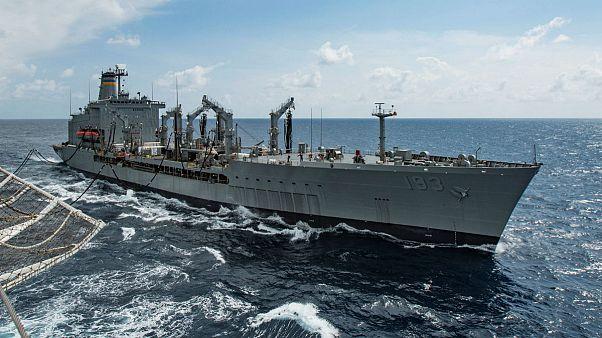 کشتی نظامی آمریکا در دریای چین جنوبی