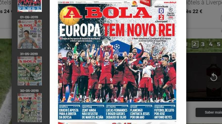 'Europe has a new king' says Portugal's Abola newspaper