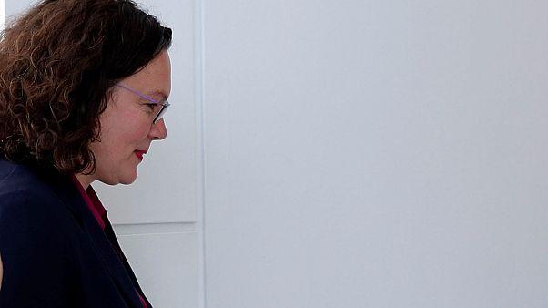 Nach heftiger Kritik: SPD-Chefin Andrea Nahles tritt zurück