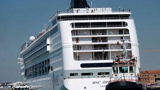 Polémica colisión de barcos en el puerto de Venecia