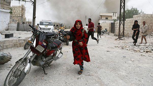 بمباران شهر ادلب سوریه، ۳۰ مه ۲۰۱۹