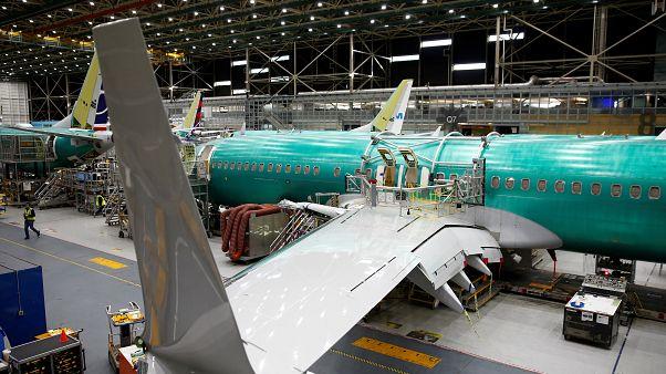 طائرة بوينغ قيد التصنيع