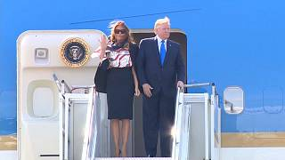 Melania und Donald Trump in London eingetroffen: 3 Tage in Europa