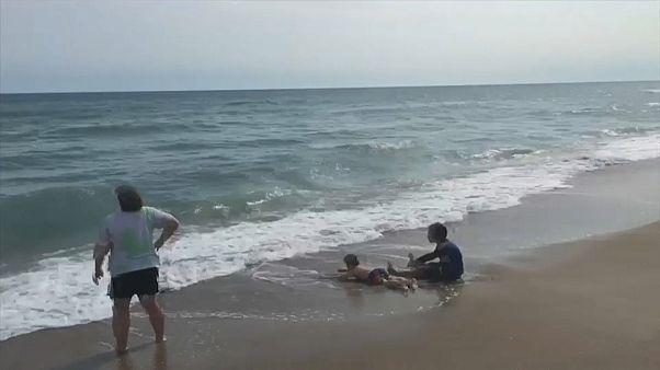 الشاطئ الذي حصل فيه هجوم سمكة القرش