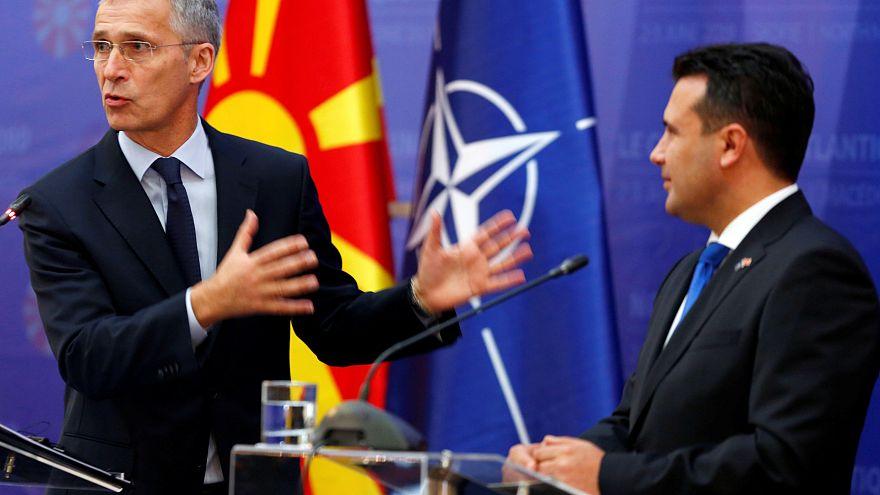 Szkopjébe látogatott a NATO főtitkára