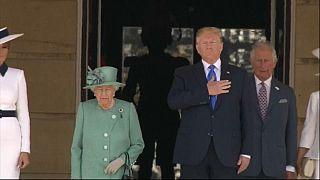 Accueil royal pour Donald Trump