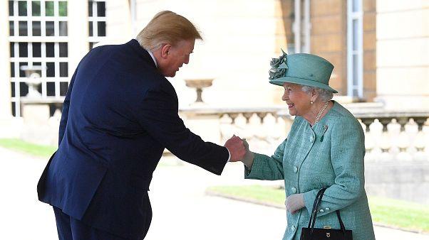 Királyi fogadás az amerikai elnöknek