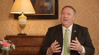 Mike Pompeo spoke to Euronews in The Hague