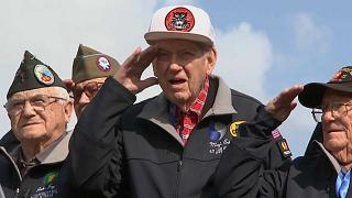D-Day: US-Veteranen kehren an Kriegsschauplatz zurück