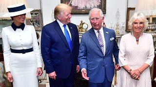 شاهد: ترامب يحظى باستقبال ملكي فاخر في لندن