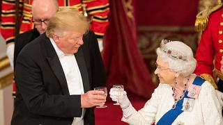 Prunk und Bankett: Queen empfängt Trump