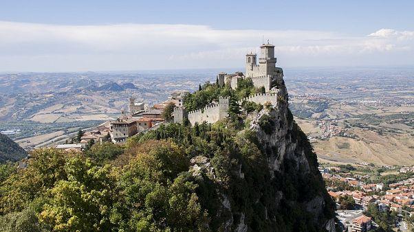 The small Republic of San Marino, situated on the Italian peninsula.
