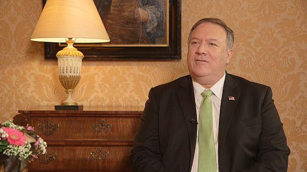 پمپئو در گفتگو با یورونیوز: پیشنهاد مذاکره بدون پیش شرط با ایران جدید نیست