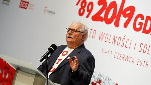 Az első szabad választásokra emlékeztek Lengyelországban