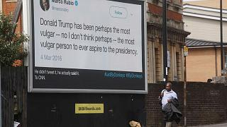 Led By Donkeys 'billboard crusaders' launch campaign in London during Trump visit