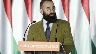 Szájer József beszédet mond a Fidesz EP-kampánynyitóján
