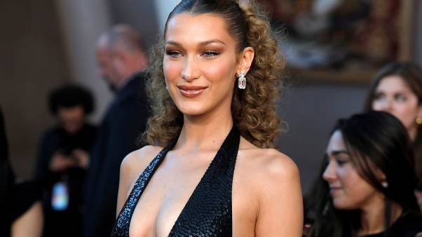 Bella Hadid arrives for the 2019 CFDA Awards at The Brooklyn Museum
