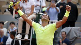 لاعب التنس الاسباني رفائيل نادال