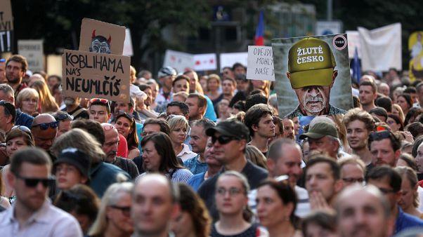 Массовые протесты в Чехии
