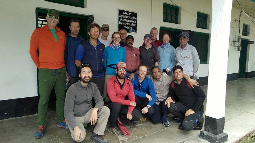 Indian authorities begin mission to remove bodies of missing climbers from mountainside
