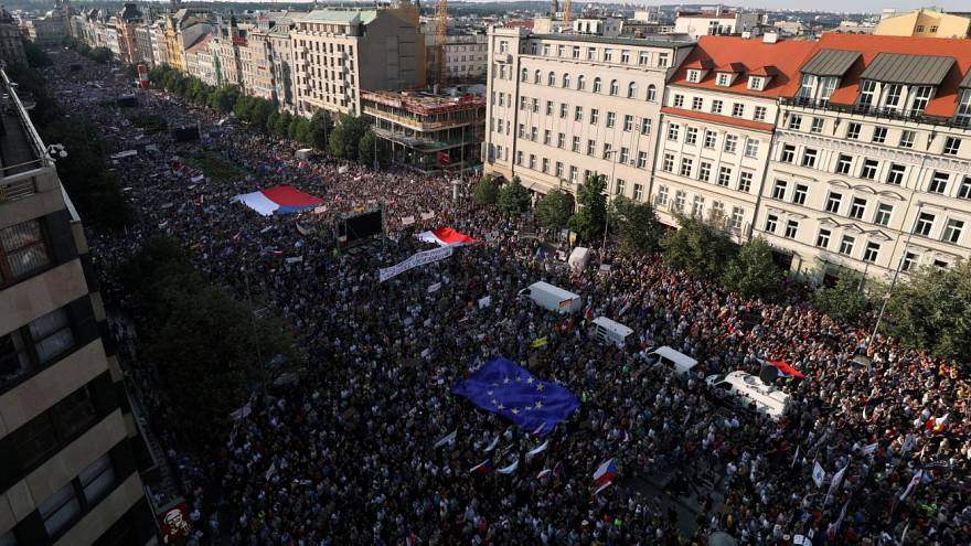 Huge protests in Prague demand resignation of Czech PM Andrej Babiš