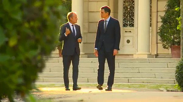 Tusk debate com Sánchez e Costa altos cargos da UE