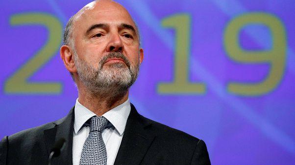 Le Commissaire européen aux Affaires économiques Pierre Moscovici