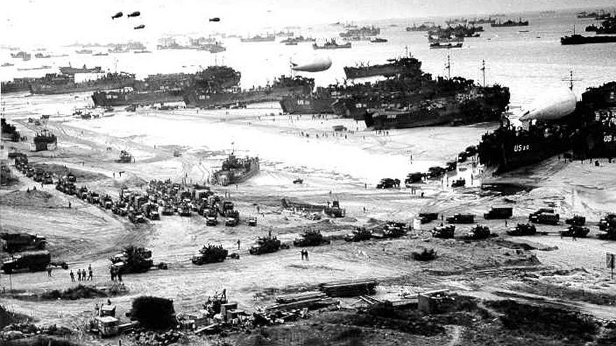 Omaha Beach, après avoir été sécurisée en juin 1944