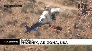 ویدئو؛ وقتی عملیات نجات کوهپیما با هلیکوپتر از کنترل خارج میشود