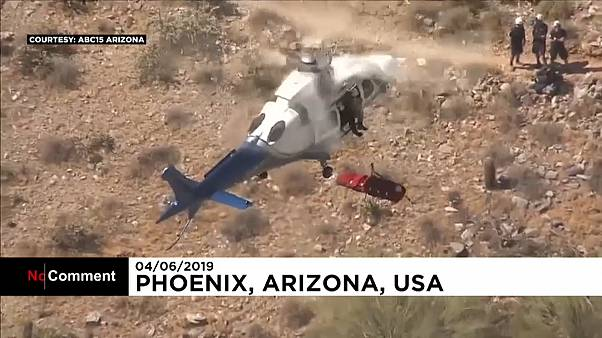 Phoenix: elisoccorso, barella impazzita